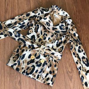Caché Leopard Print Jacket/Coat